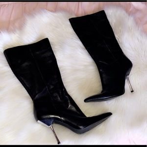 GUESS Leather Heel Boots